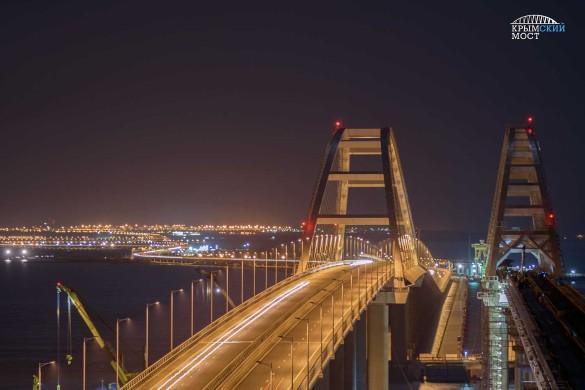 Строительство железной дороги по Крымскому мосту подходит к концу. Фото: most.life