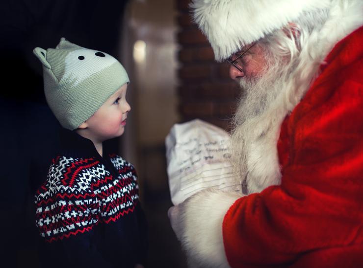 напишите письмо деду морозу вместе с ребенком