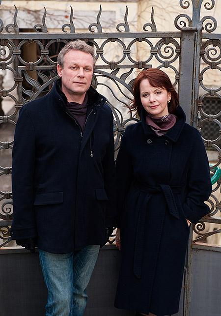 Сергей Жигунов с женой Верой Алена Бабенко в сериале