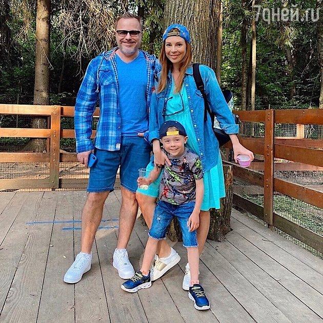 Наталья Подольская с мужем Владимиром Пресняковым и сыном