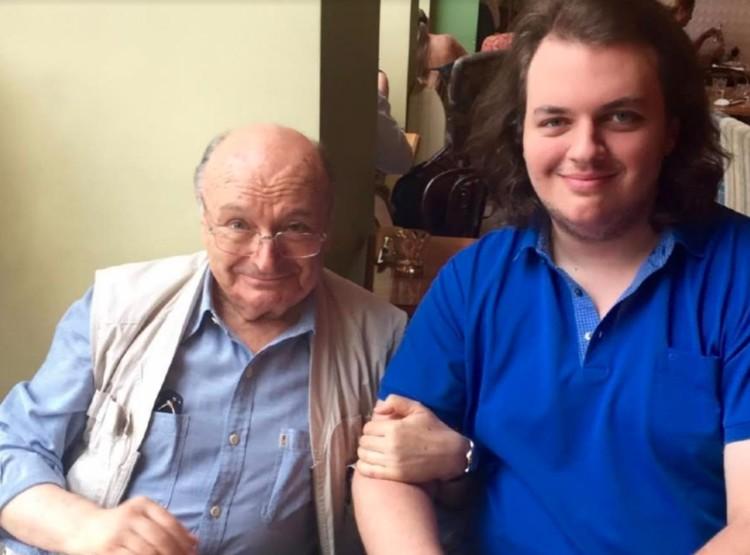 Михаил Жванецкий с сыном Дмитрием Жванецким.