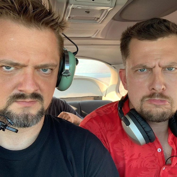 Колтовой и Пушной дружили со времен работы в программе «Галилео». Этим летом друзья летали вместе.