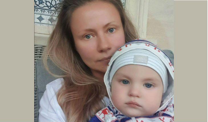 Мария Миронова с сыном Федором