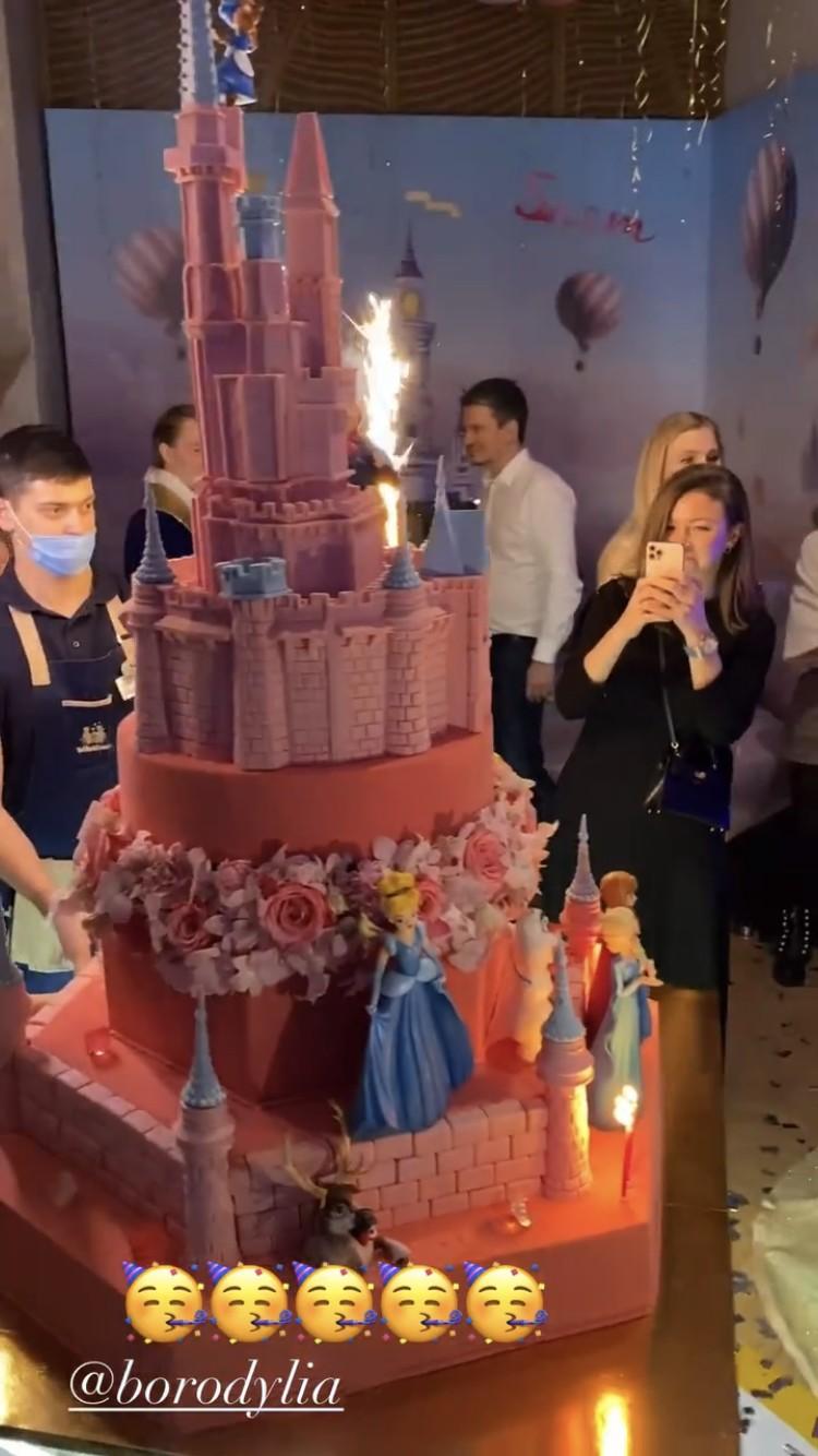 Торт с диснеевскими принцессами