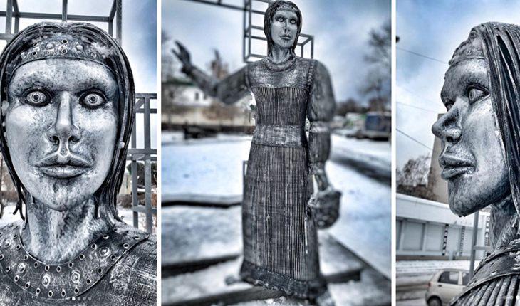 Жуткая Аленка, которую установили под Воронежем