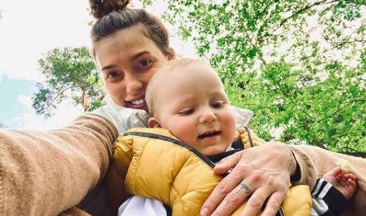 Регина с сыном