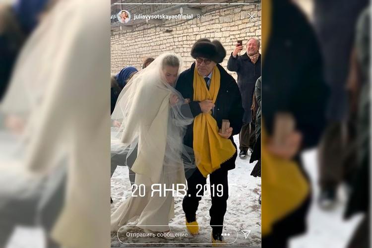 Высоцкая показала редкое фото с венчания с Кончаловским
