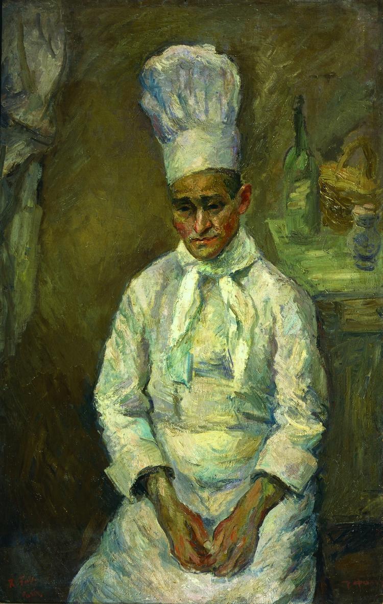 Герои полотен Фалька - люди с историей. Как этот повар, белый офицер, уроженец Кубани, эмигрировавший в Париж и открывший свое заведение