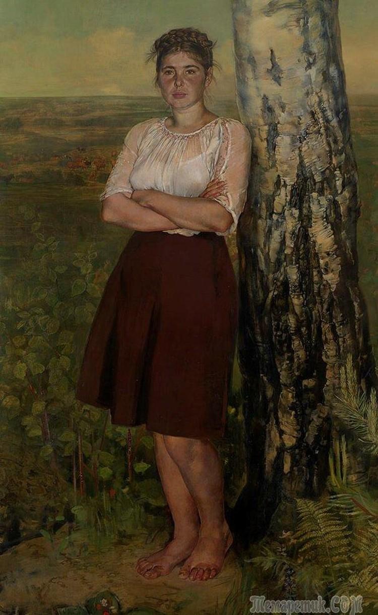 Огромный (метр на два) портрет Ксении Некрасовой работы Василия Миняева (1907–1993) десять лет назад был продан на русских торгах аукционного дома Bonhams в Лондоне