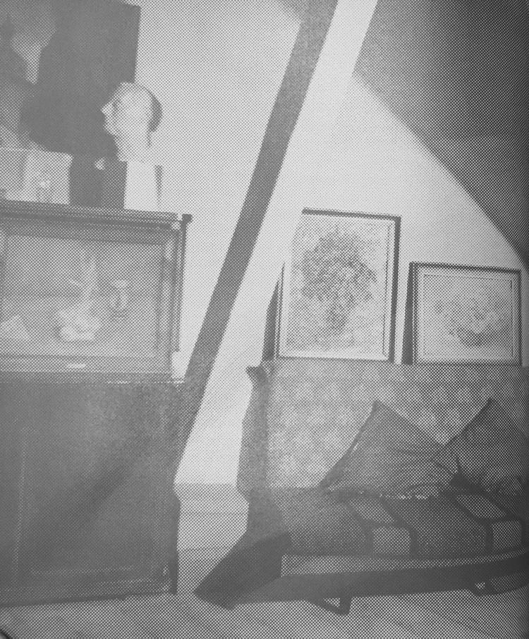 Мастерская Роберта Фалька. Слева - тахта Фалька, на которой любила посидеть и полежать Ксана