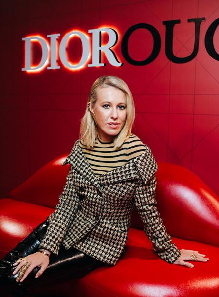 Ксения Собчак на презентации Dior