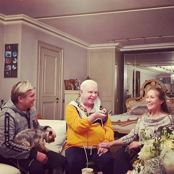 Борис с гостями из Ялты