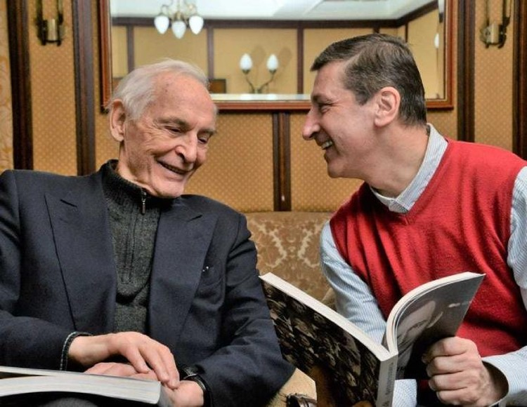 Вячеслав Моцардо и Василий Лановой. Фото из архива Вячеслава Моцардо