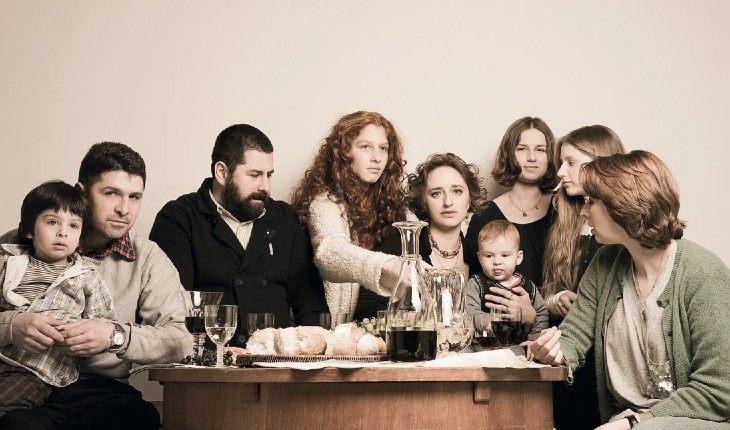 Муся Тотибадзе с семьей