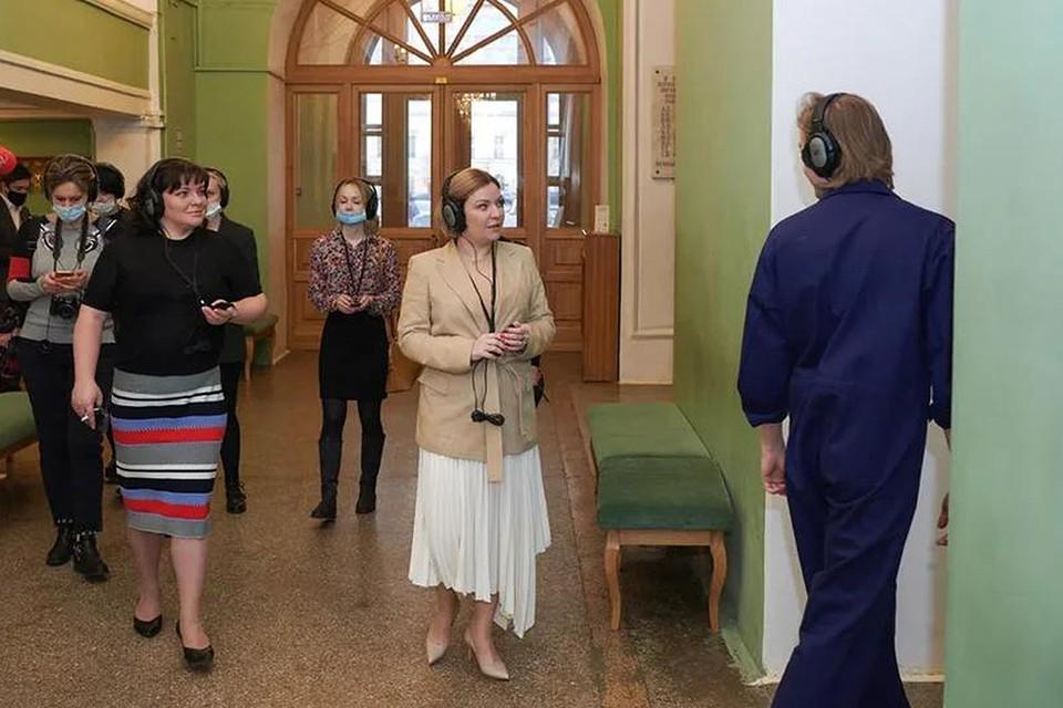 Министр культуры РФ Ольга Любимова посетила Российский академический Молодежный театр.