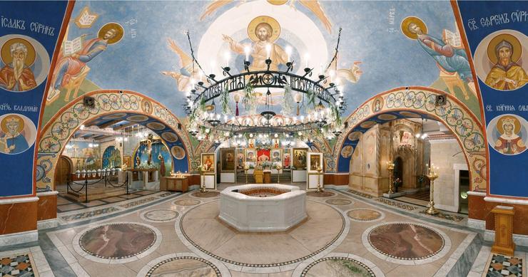 Нижний храм Покровского храма в Ясеневе