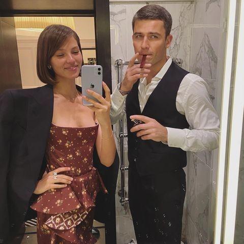 Алеся Кафельникова и ее муж, Георгий Петришин