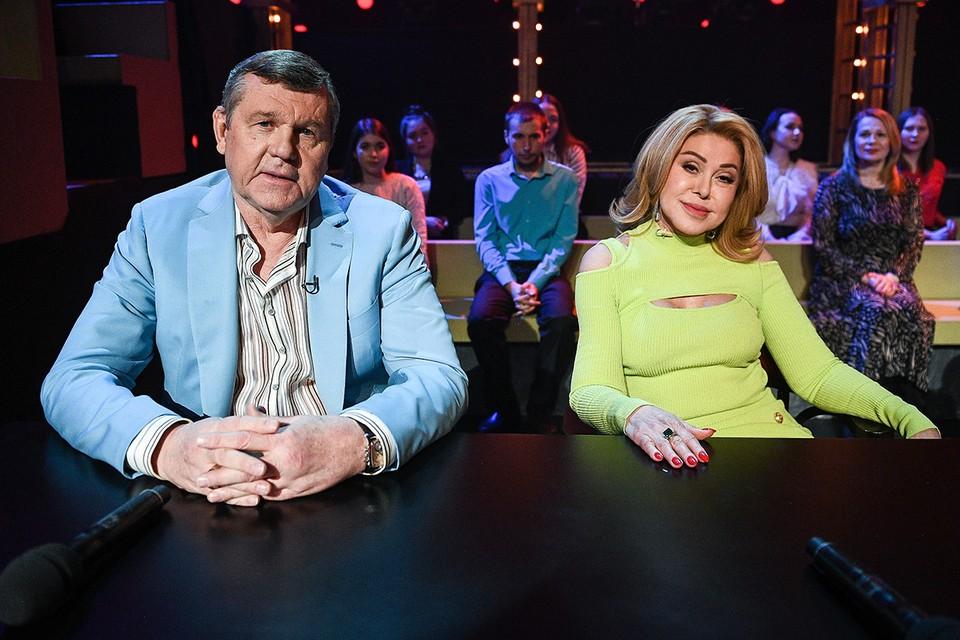 Александр Новиков и Любовь Успенская на съемках телешоу