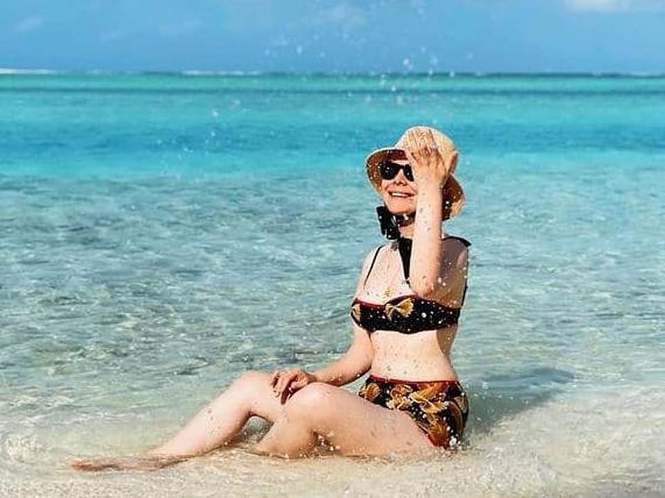 Татьяна Брухунова показала фигуру на пляже.