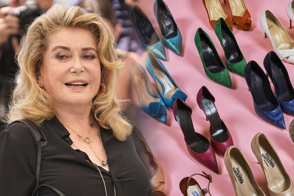 Катрин Денев решила расстаться с коллекцией обуви.
