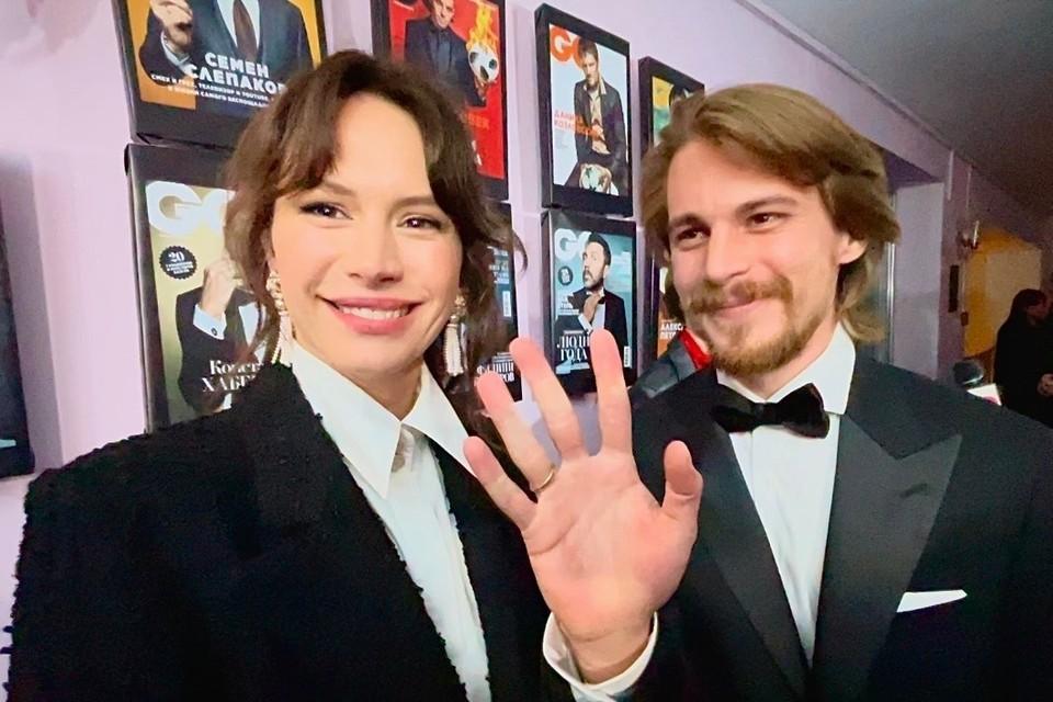 Иван Янковский и Диана Пожарская впервые вышли в свет после рождения сына.