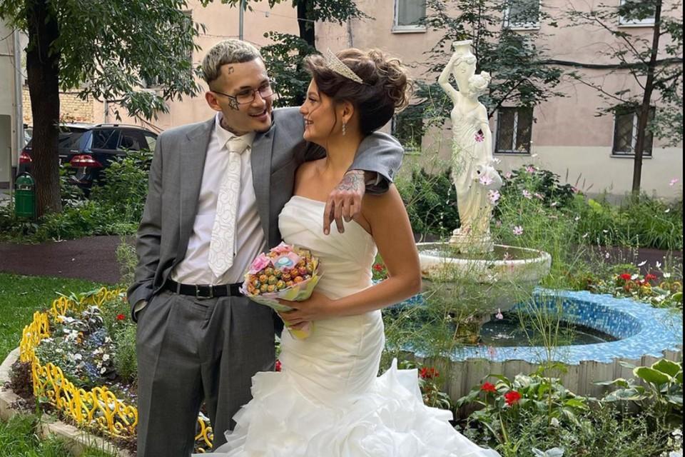 Рэпер Моргенштерн минувшим вечером женился на своей избраннице Диларе. Фото: Инстаграм.